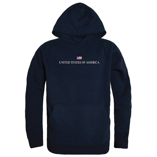 Graphic Pullover, Usa, Navy, m