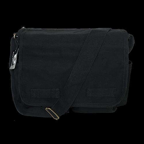 Classic Military Messenger Bags, Black