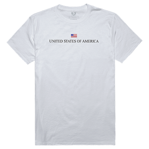 Relaxed Graphic Tee, Usa, White, 2x