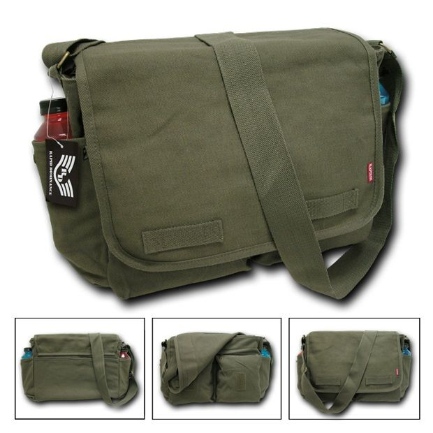 Classic Military Messenger Bags, Olive