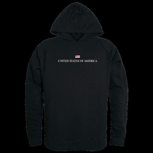 Graphic Pullover, Usa, Black, 2x