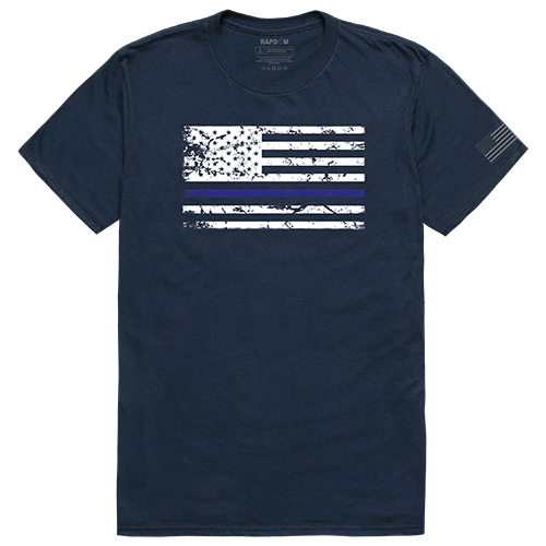 Tacticalgraphic T,Thin Blue Line,Nvy, 2x