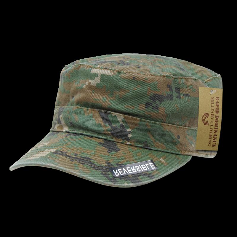 Reversible Flat Top Cap,Woodland Digital