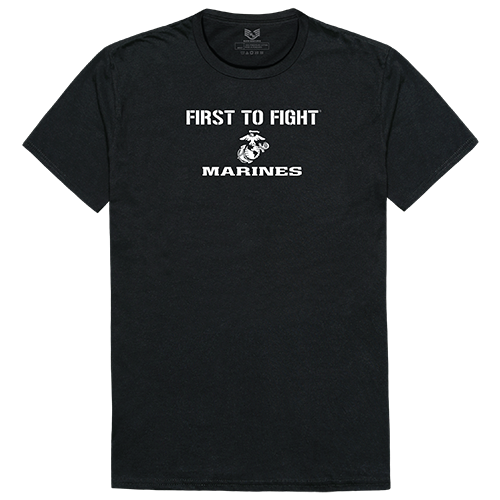 Military Graphic T's, First 1, Blk, 2x