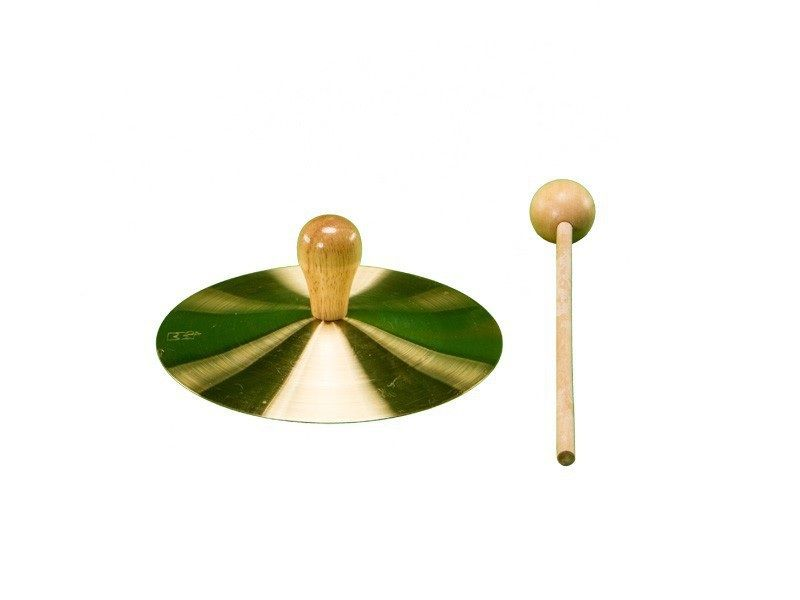 """5"""" Solid Brass Cymbal With Mallet"""