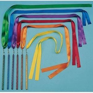 """Set Of 6 36"""" Ribbon Wands"""