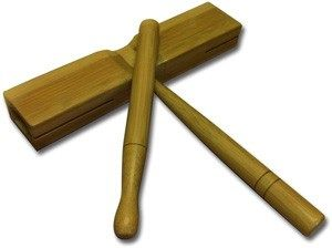 Bamboo Flat Tick Tock Block With Striker