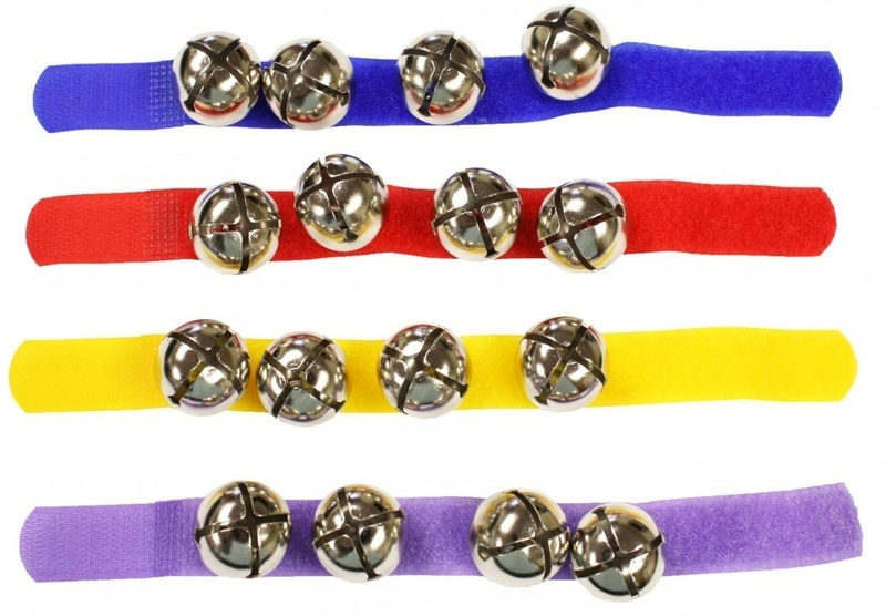 Wrist/ankle Bells With Colorful Strap (single)