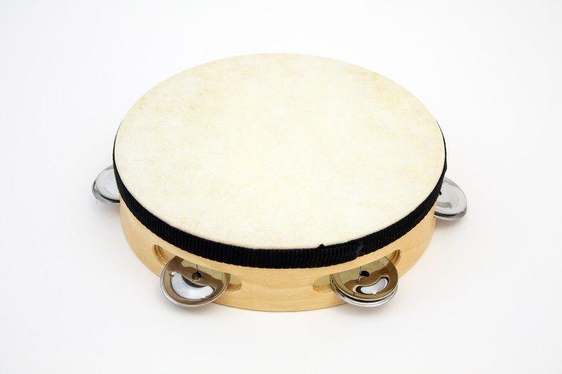 "7"" Tambourine Rbi Wood Tambourine With - 5 (pr) Jingles."