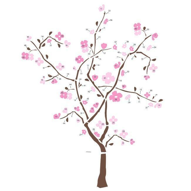 Spring Blossom Tree Giant Decal