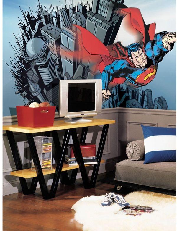 Superman Xl Spray And Stick Wallpaper Mural