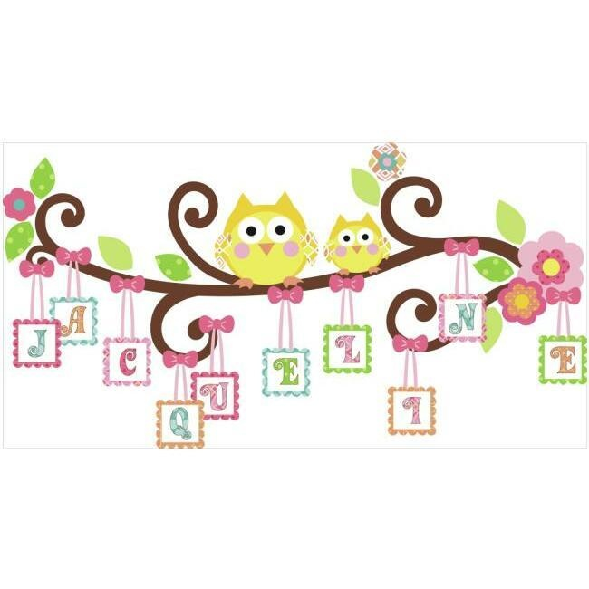 Scroll Tree Letter Branch Wall Decals