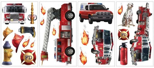 Fire Brigade Wall Decals
