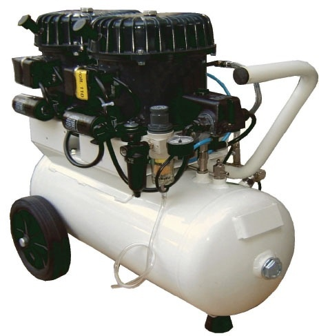 Silentaire Val-Air 100-24 AL Silent Running Airbrush Compressor: Oil Lubricated, Portable Air Compressor