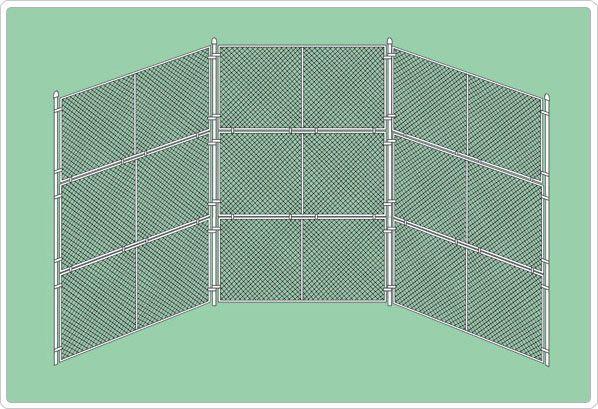 SportsPlay Baseball Backstop Prefabricated Panel without Hood - Baseball Field Equipment