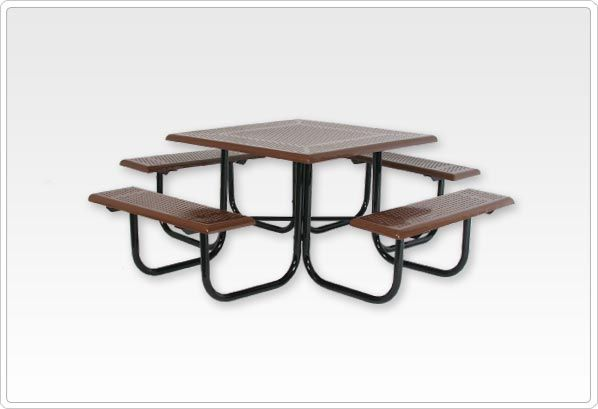 SportsPlay Square Picnic Table with Frame - Playground Picnic Tables