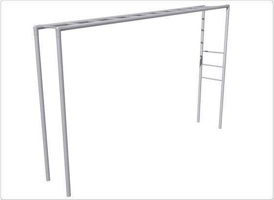 SportsPlay Junior Horizontal Ladder: Galvanized - Playground Fitness Equipment
