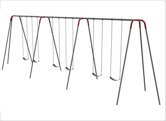 SportsPlay 10' Heavy Duty Modern Tripod Swing: 6 Seats - Playground Swing Set