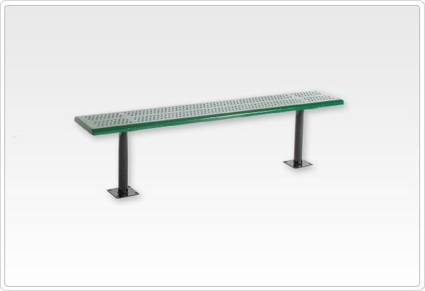 SportsPlay Standard Playground Bench without Back: 6' Beveled Perforated