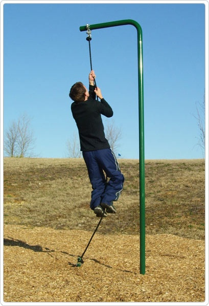 SportsPlay Rope Climb: Galvanized - Climbing Playground Equipment