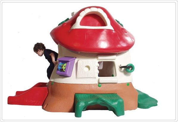 SportsPlay Tot Town Mushroom Kottage: Partially Assembled - Contained Play Structures