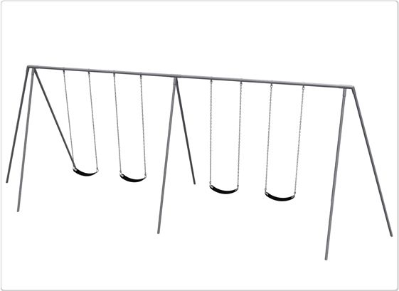 SportsPlay 8' Primary Tripod Swing: 4 Seats - Playground Swing Set