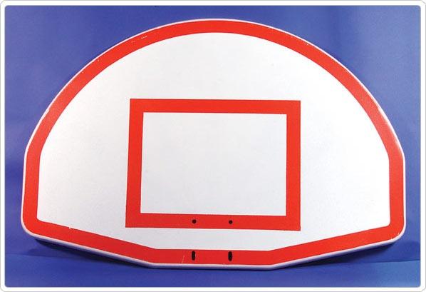 SportsPlay Painted Silkscreen Target and Border Aluminum Board - Basketball Equipment