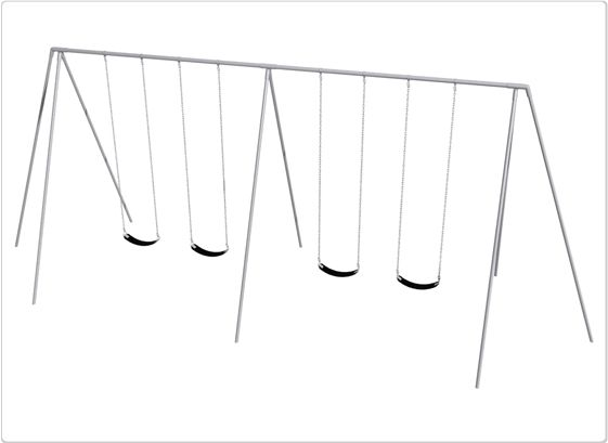 SportsPlay 12' Primary Tripod Swing: 4 Seats - Playground Swing Set