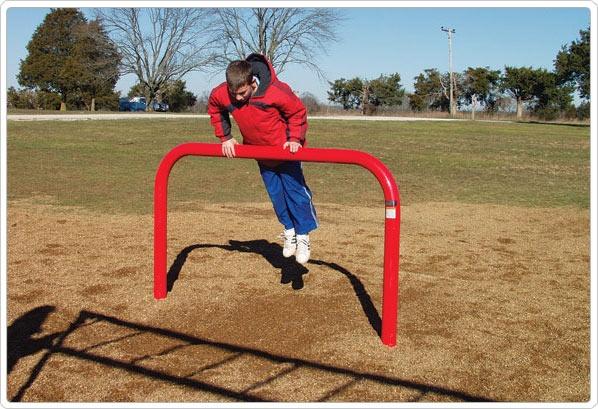 SportsPlay Vault Bar: Galvanized - Playground Fitness Equipment