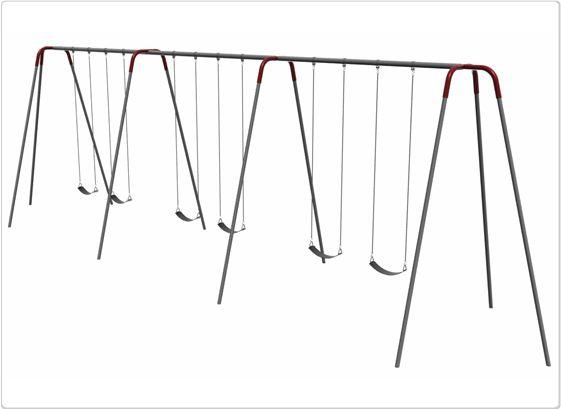 SportsPlay 12' Heavy Duty Modern Tripod Swing: 6 Seats - Playground Swing Set