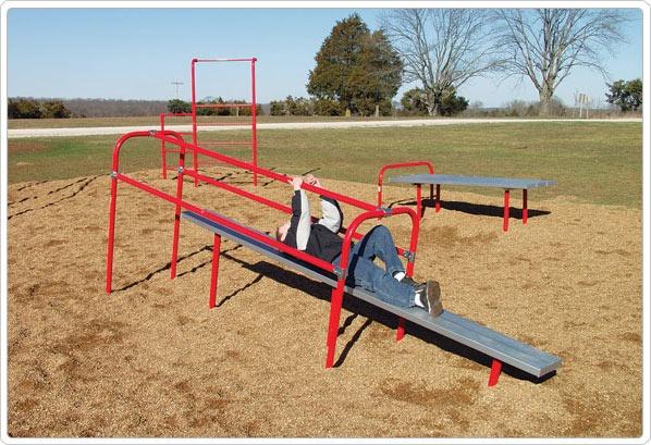 SportsPlay Pull Slide: Galvanized - Playground Fitness Equipment