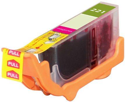 Canon OEM CLI-221M Compatible Inkjet Cartridge: Magenta, 530 Yield