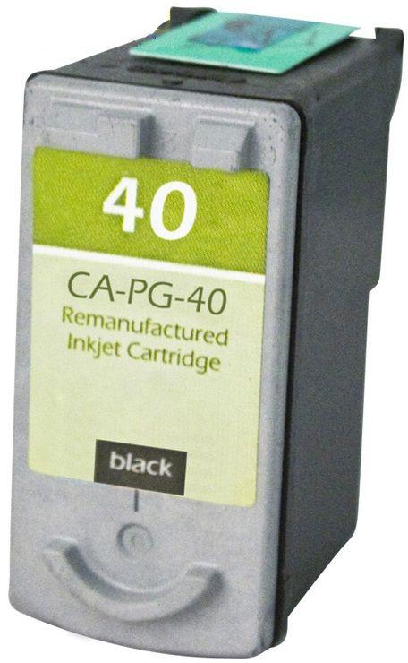Canon OEM PG-40 Remanufactured Inkjet Cartridge: Black, 195 Yield