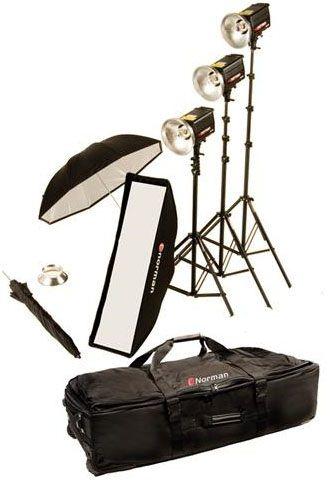 Norman MLKIT1210/812889 Three Light Single Softbox Kit