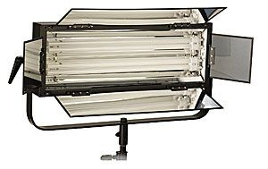 Smith-Victor 110watt Dimmable Two-Tube Fluorescent Light Bank With Barndoors: Model # FLO-110