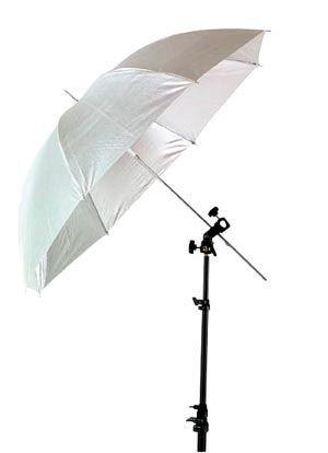 """Smith-Victor 45W/670138 White Shoot-Through Umbrella: Size 45"""""""