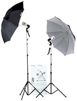 Smith-Victor KF2U/401455 2-Light 90 watt-Second Thrifty Umbrella Flash Kit