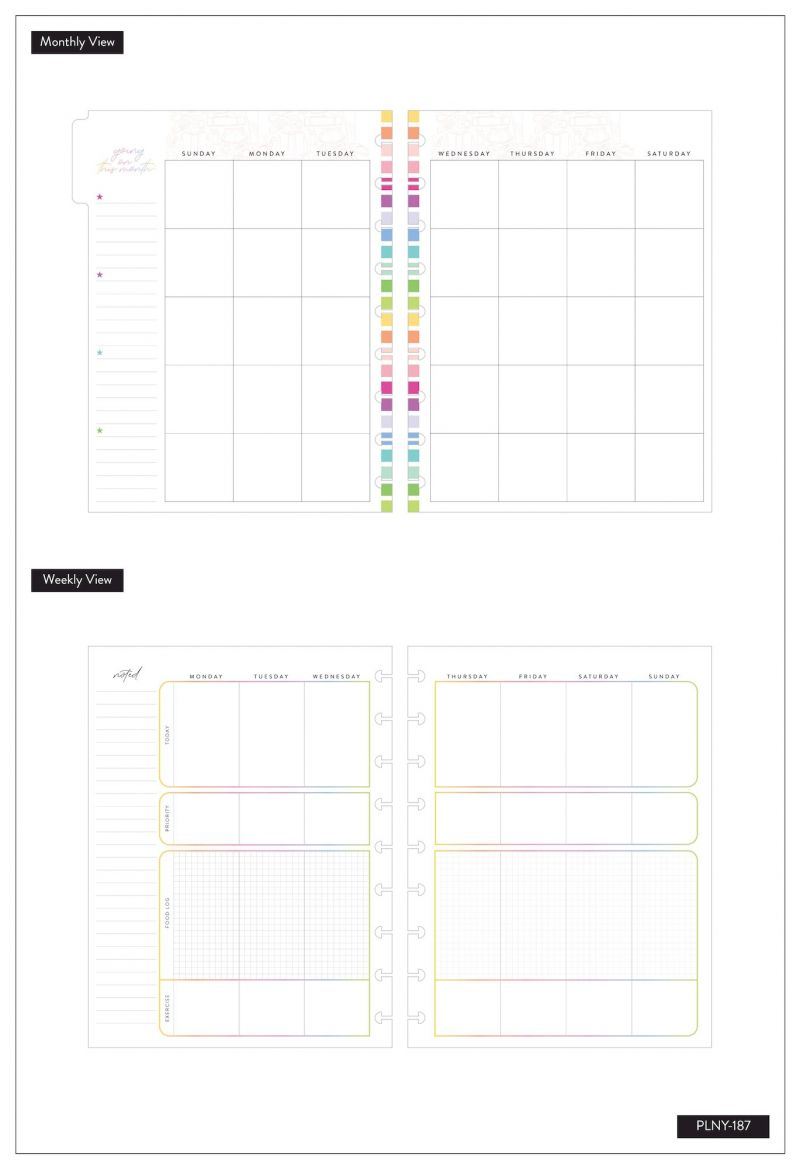 12 Months - Undated - Classic Happy Planner® - Fitness