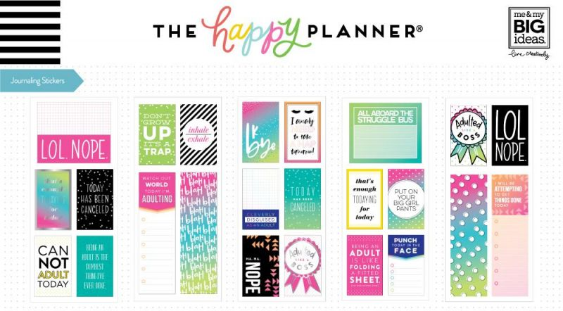 Journaling (flip) Stickers - Adulting