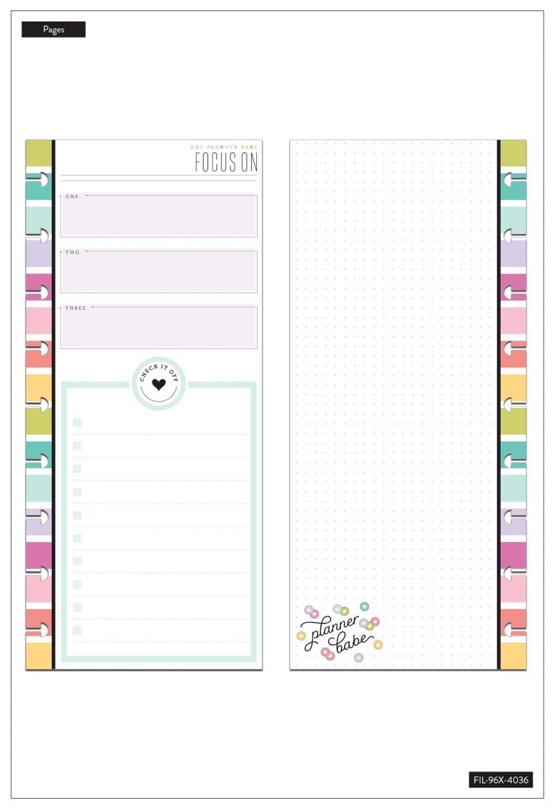 Classic Half Sheet Note Paper - Focus - Planner Babe