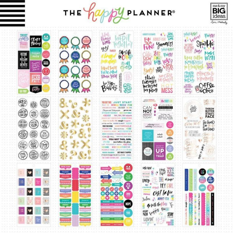 Value Pack Stickers - Gold Star Quotes
