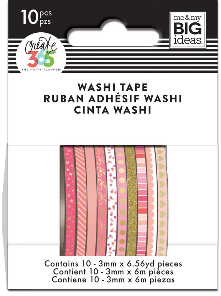 Pink Hues Skinny Washi Tape