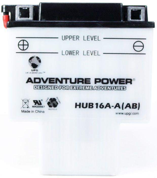 UPG Adventure Power Lead-Acid Conventional: HUB16A-A(AB), 16 AH, 12V