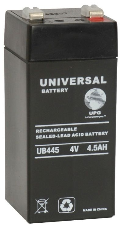 UPG Sealed Lead Acid AGM: UB445, 4.5 AH, 4V