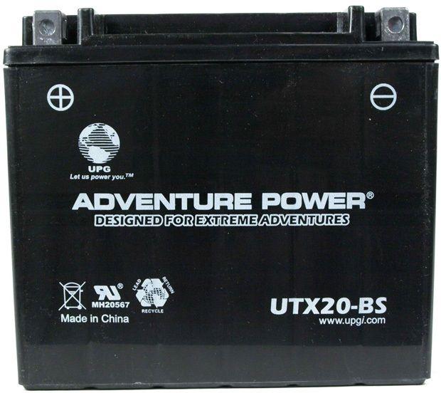 UPG Adventure Power Sealed Lead Acid Dry Charge AGM: UTX20-BS, 18 AH, 12V