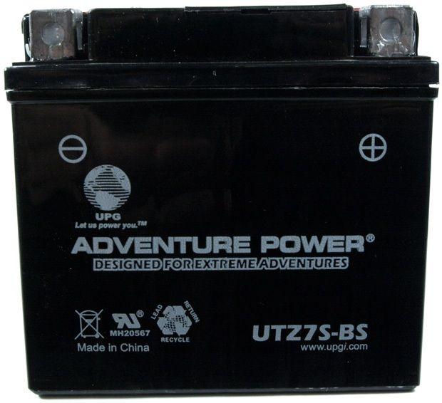 UPG Adventure Power Sealed Lead Acid Dry Charge AGM: UTZ7S-BS, 6 AH, 12V