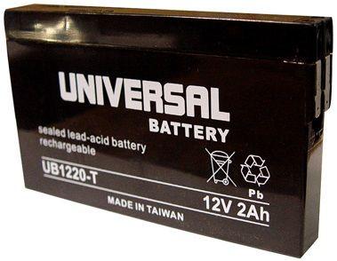 UPG Sealed Lead Acid AGM: UB1220-T, 2 AH, 12V