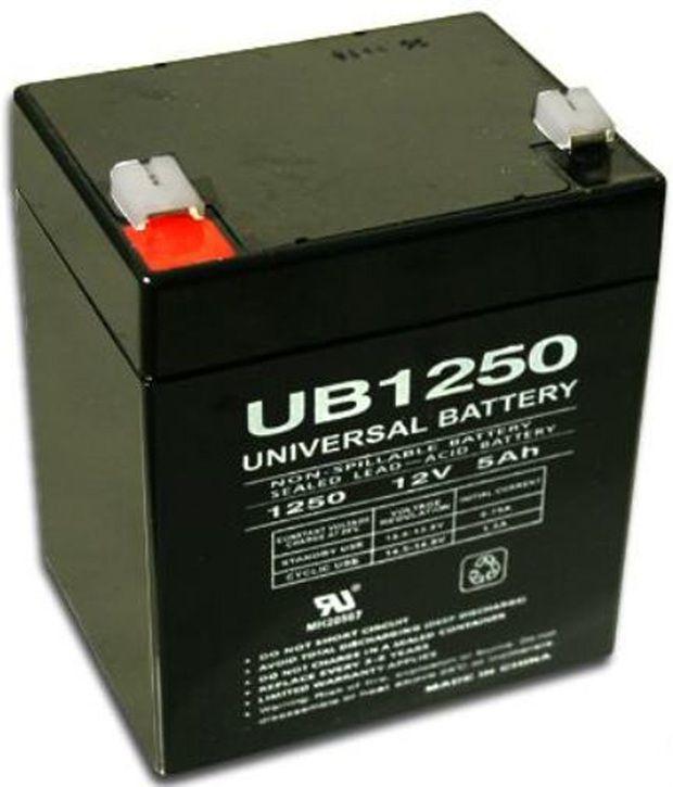 UPG Sealed Lead Acid AGM: UB1250, 5 AH, 12V, F2