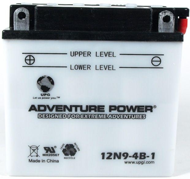 UPG Adventure Power Lead-Acid Conventional: 12N9-4B-1, 9 AH, 12V