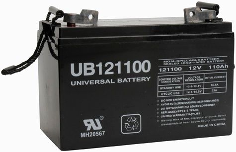 UPG Sealed Lead Acid AGM: UB121100 (Group 30H), 110 AH, 12V, FL1